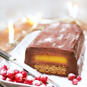 Tronco de navidad chocolate mango