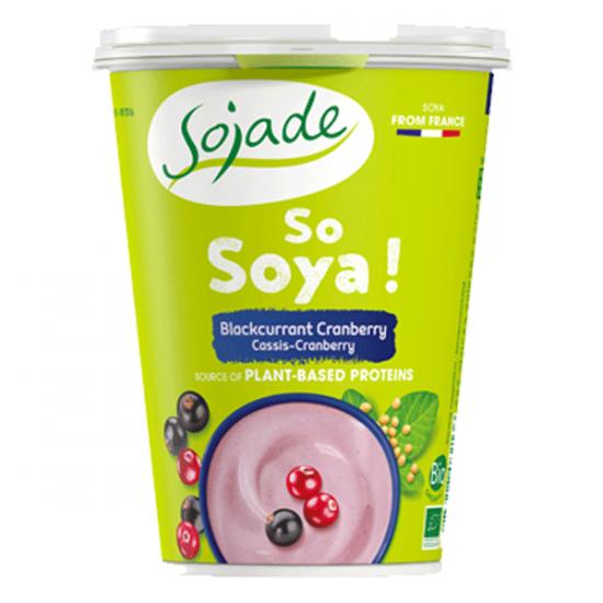 Sojade especialidad de soja – Grosella negra y Cranberry
