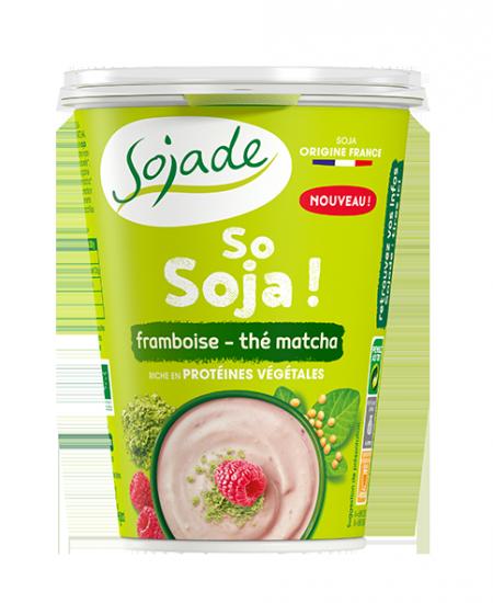 Sojade especialidad de soja – Frambuesa y Té verde matcha
