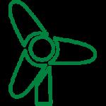 La planta dispone de un aerogenerador para reducir la huella ambiental.